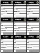 Dark Aeons Weapon Cards
