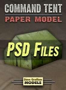 Command Tent PSD Files - Dave Graffam Models | Wargame Vault