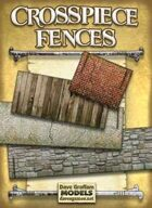 Crosspiece Fences Paper Models