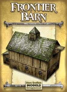 Frontier Barn Paper Model - Dave Graffam Models | Frontier | Wargame Vault
