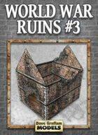 World War Ruins #3 Paper Model