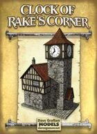 Clock of Rake's Corner Paper Model