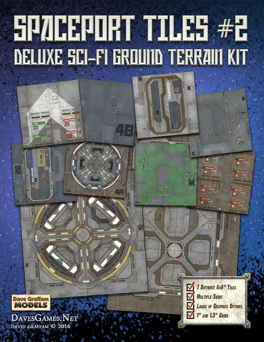 Spaceport Tiles #2 Paper Terrain - Dave Graffam Models | Sci-Fi | Tiles |  Wargame Vault