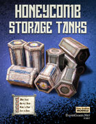 Honeycomb Storage Tanks Card Models Kit