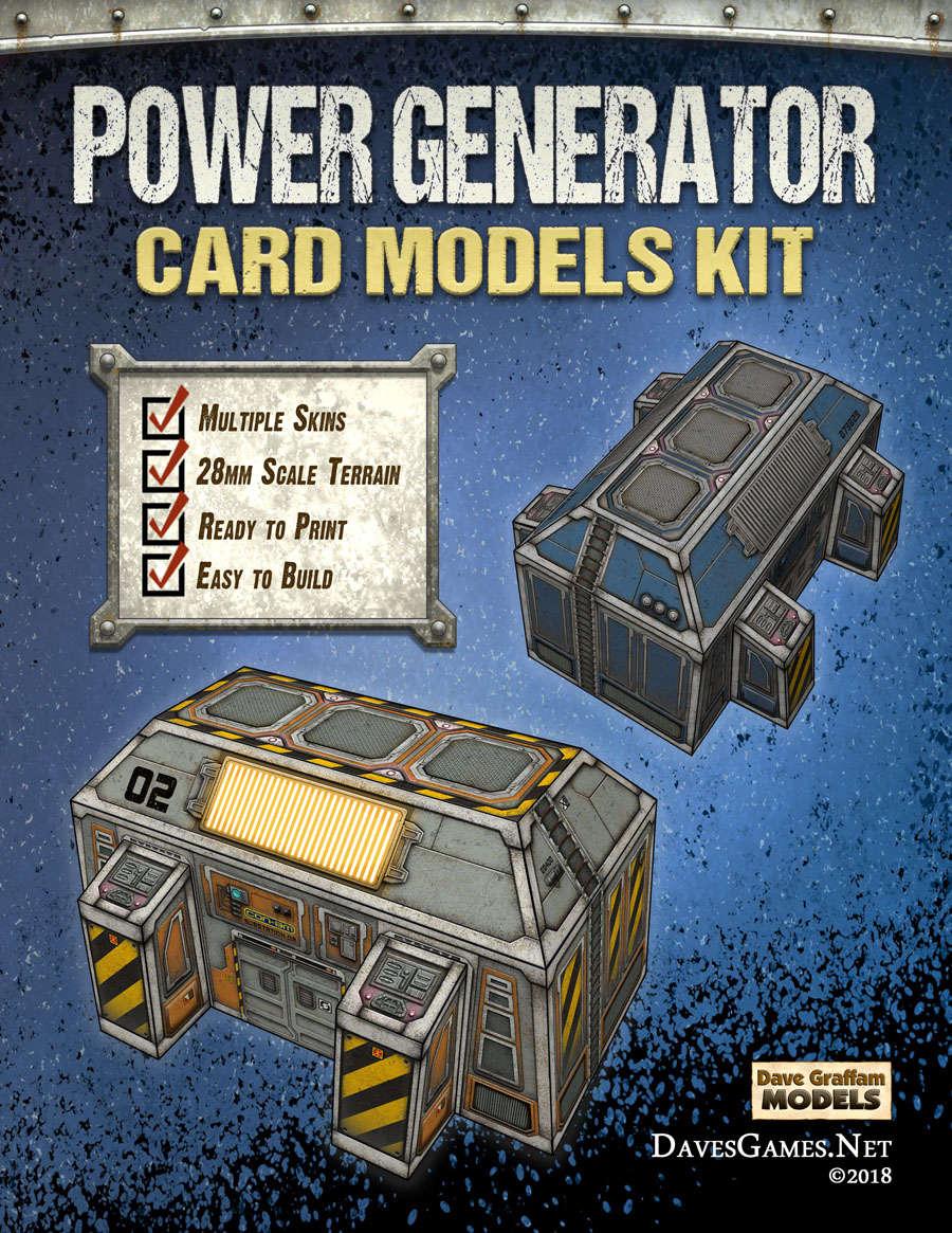 Power Generator Paper Model Kit - Dave Graffam Models   Sci-Fi    DriveThruRPG com