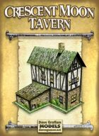 Crescent Moon Tavern Paper Model