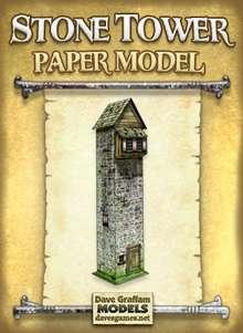 Stone Tower Paper Model - Dave Graffam Models | Fantasy & Medieval |  Wargame Vault