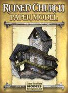 Ruined Church Paper Model