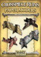 Crosspiece Ruins Set Paper Models