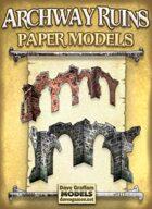 Archway Ruins Set Paper Models
