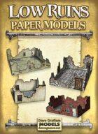 Low Ruins Paper Models Set