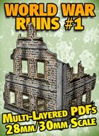World War Ruins #1 Paper Model