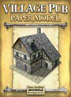 Village Pub Paper Model