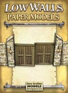 Low Walls Set Paper Models