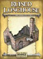 Ruined Longhouse Paper Model