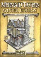 Mermaid Tavern Winter Edition Paper Model