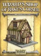 Wizard's Shop of Rake's Corner Paper Model