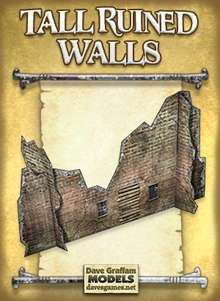 Tall Ruined Walls Paper Models