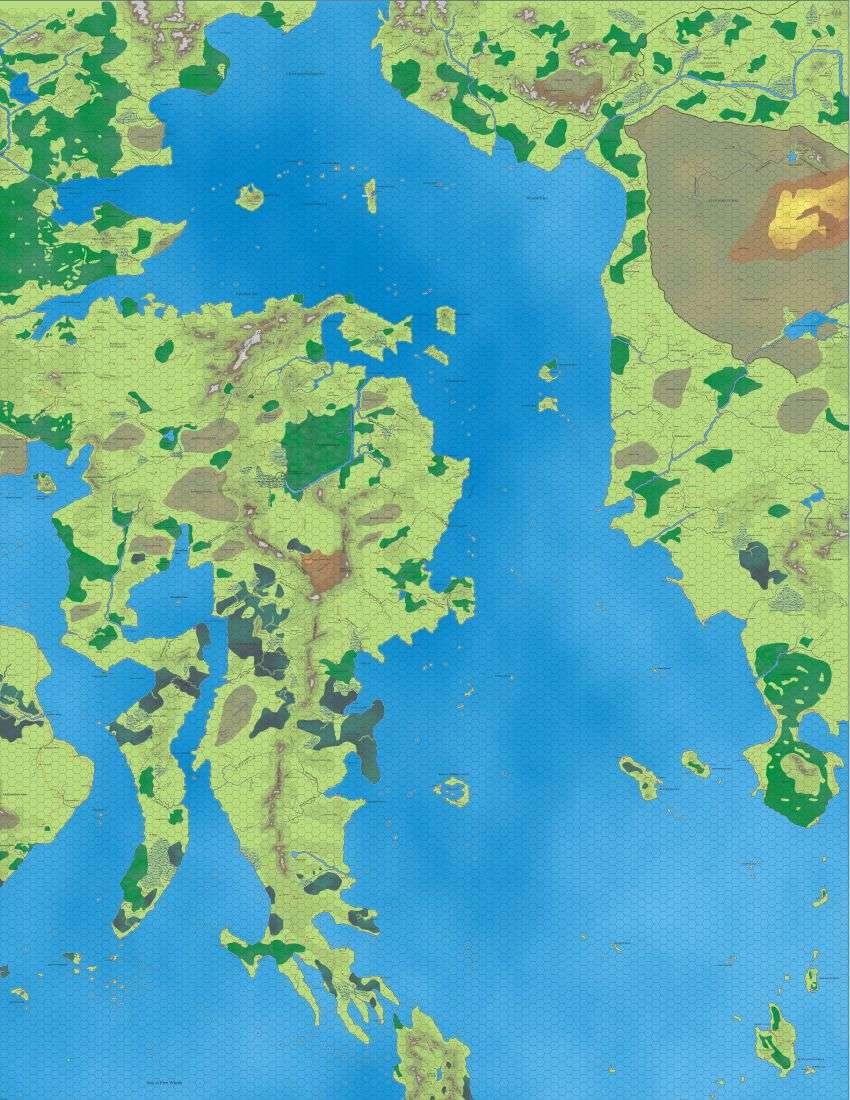Wilderlands Of High Fantasy Color Maps Bat In The Attic Games