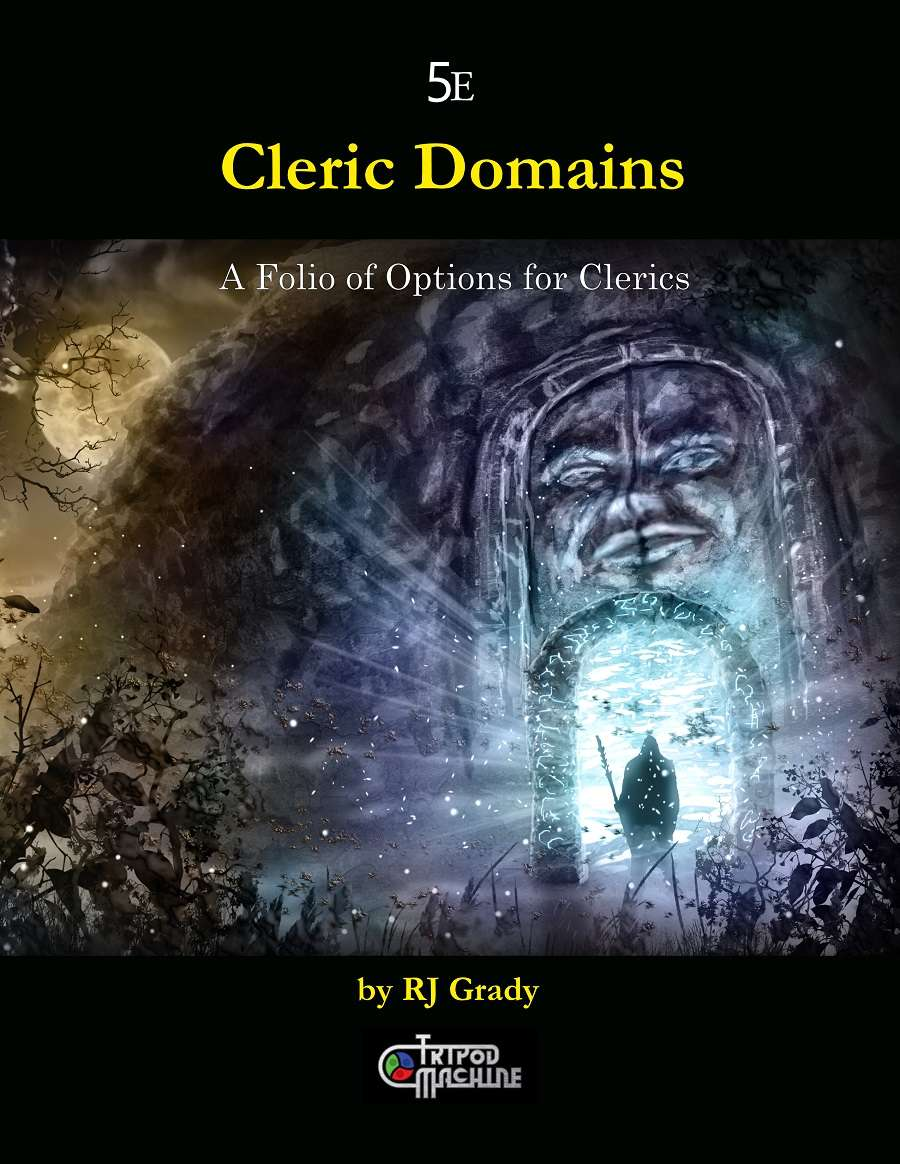 Cleric Domains, A Folio of Options for Clerics (5e) - Tripod Machine |  Fifth Edition | DriveThruRPG com