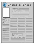 OpenD6 Character Sheet