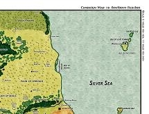 Wilderlands of High Adventure: Southern Reaches Judges Map