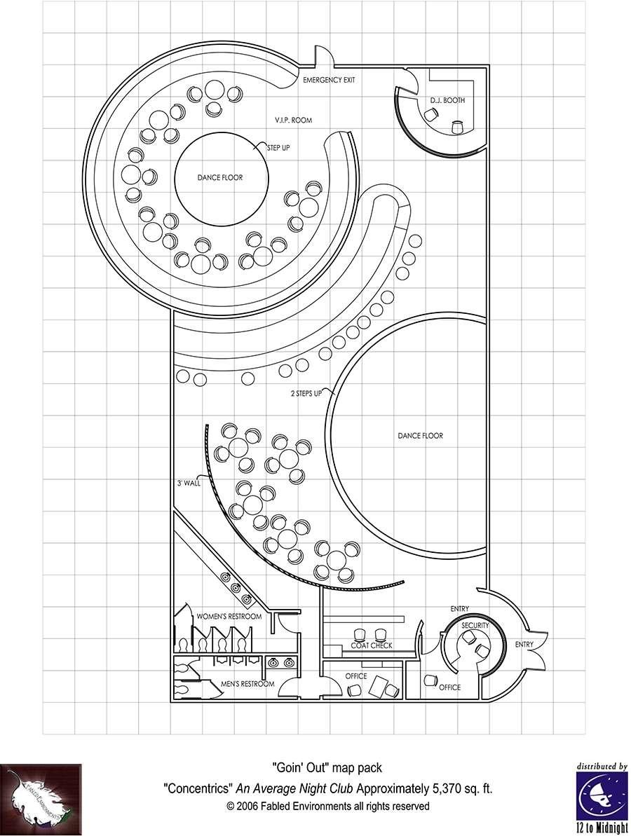 Room Floor Plan Designer Free: Modern Floorplans: Nightclub