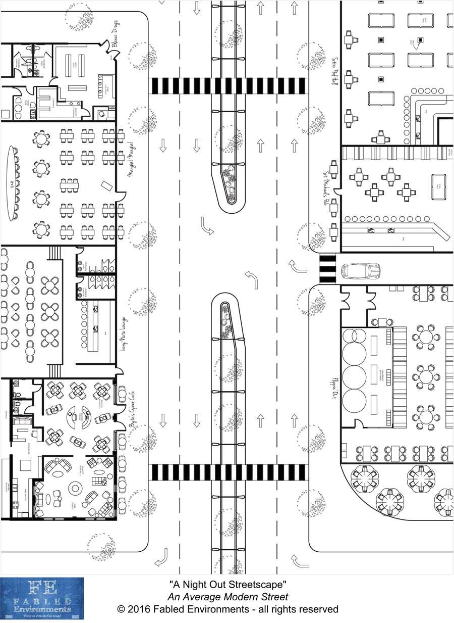 Modern Floorplans: Streetscapes
