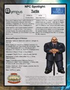 Olympus Inc NPC Spotlight: Turtle
