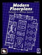Modern Floorplans Volume 1: Office Spaces
