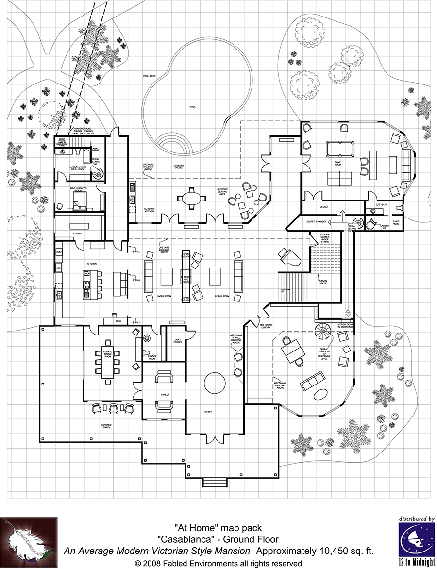Modern Floorplans Victorian Style Mansion Fabled