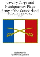 Army of the Cumberland Cavalry Corps and Headquarters American Civil War 15mm Flag Sheet