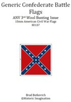 Generic Confederate ANV 3rd Wool Bunting Issue American Civil War 15mm Flag Sheet