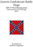 Generic Confederate ANV 3rd Wool Bunting Issue American Civil War 25mm Flag Sheet