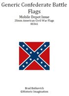 Generic Confederate Mobile Depot Pattern American Civil War 25mm Flag Sheet