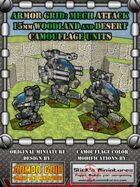 Armor Grid: Mech Attack 15mm Woodland & Desert Camouflage Units