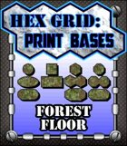 Hex Grid: Print Bases- Forest Floor