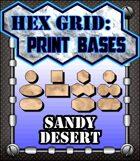 Hex Grid: Print Bases- Sandy Desert