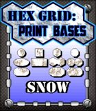 Hex Grid: Print Bases- Snow