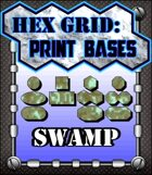 Hex Grid: Print Bases- Swamp