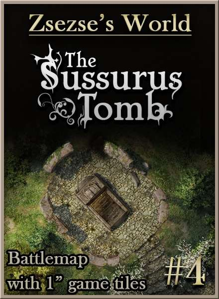 Battlemap The-Sussurus-Tomb dungeon tiles PDF DTRPG