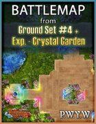 FREE Battlemap from Ground Set #4 - Crystal Garden