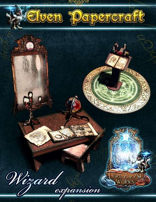 Elven Papercraft - Wizard Items Expansion - Lord Zsezse Works | Paper  models | Wargame Vault