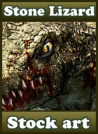 Stone Lizard - Stock art