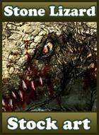 Stone Lizard - Stock art