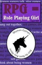 RPG = Role Playing Girl Zine 2009