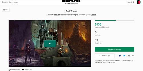 End Times Free Kickstarter Preview