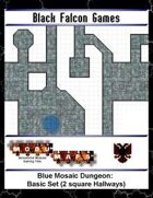 Blue Mosaic Dungeon: Basic Set (2 square Hallways)