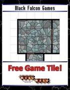 Blue Mosaic Dungeon: Transitions (2 to 4 square Hallways) - Free-4-All Tile