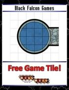 Blue Mosaic Dungeon: Curves (2 square Hallways) - Free-4-All Tile